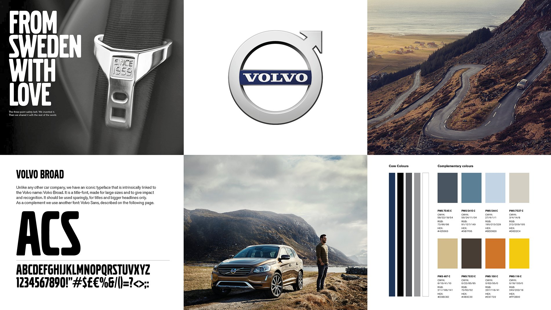 Examples of Volvo's new Visual brand identity